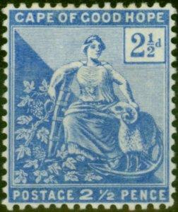 Cape of Good Hope 1896 2 1/2d Ultramarine SG63a Fine Lightly Mtd Mint