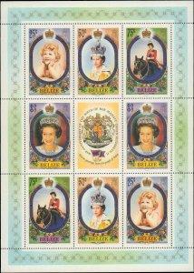 1986 Belize #809-810, Complete Set, Sheet of 8, Never Hinged