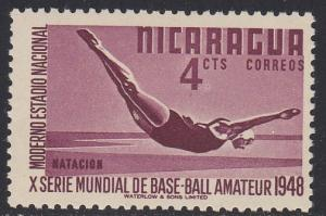 Nicaragua # 720, Diving, NH