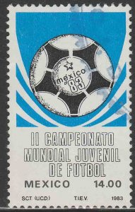 MEXICO 1317, 2nd World Youth Soccer Championships Used VF. (1002)