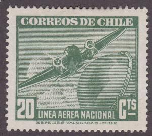 Chile C71 Plane & Globe 1943