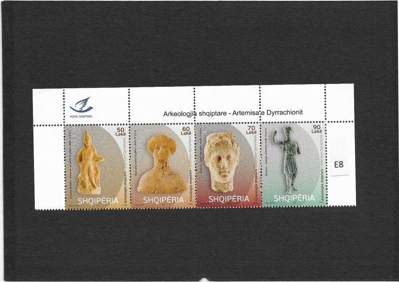 [E8] ALBANIA 2014, Artemis of Durrachion, Gim.Nr. 3624-3627, MNH