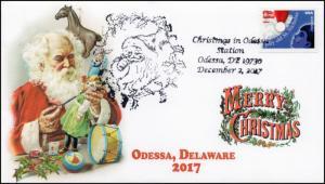 17-381, 2017, Christmas, Odessa DE, Santa Pictorial, Event Cover,