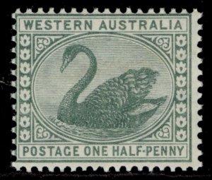 AUSTRALIA - Western Australia QV SG94a, ½d green, NH MINT.