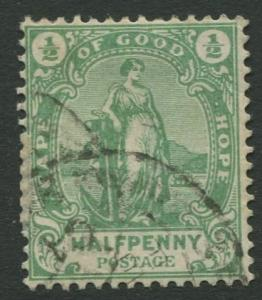Cape of Good Hope - Scott 59 - General Issue -1893- Used -Single 1/2p Stamp