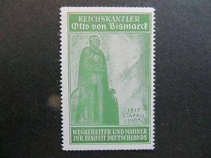 A4P5F74 Reklamemarke Otto von Bismark mnh**