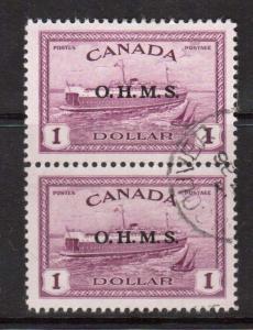 Canada #O10 VF Used Scarce Pair