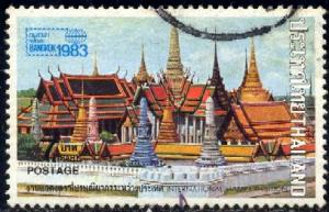 Buddhist Temple in Bangkok, Thailand SC#1001 used