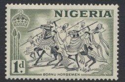 Nigeria  SG 70a SC# 81 MH QEII 1953 Die 1a  Bornu Horsemen please see scan