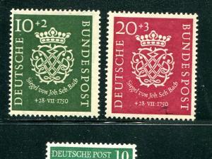 Germany #B314-15 J.S. Bach seal  Mint VF NH