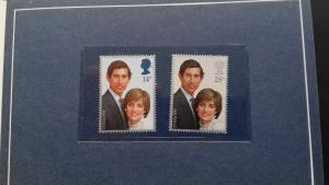 Great Britain 1981 Wedding of Prince Charles and Lady Diana Spencer Mint
