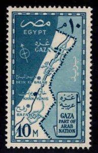 EGYPT Scott 394 MNH** Gaza strip map stamp