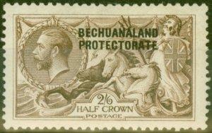 Bechuanaland 1923 2s6d Chocolate-Brown SG88 B.W Fine Mtd Mint