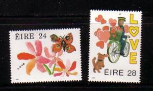 Ireland Sc 679-80 1987 Love stamp set mint NH