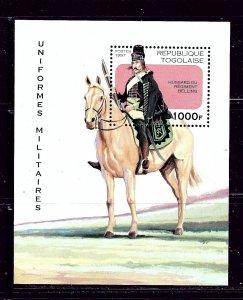 Togo 1770 MNH 1997 Military Horseman S/S