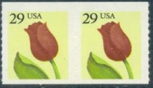 2525 Flower F-VF MNH coil pair