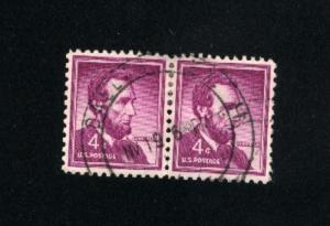 USA #1036  3 used 1954-1968 PD .12