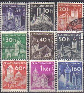 CZECHOSLOVAKIA, 1960 used complete set, Czechoslovak Castles.