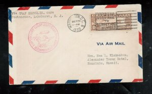 USA #C14 Very Fine Used On Graf Zeppelin Cover To Hawaii
