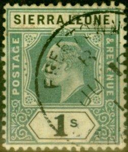 Sierra Leone 1905 1s Green & Black SG95 Fine Used