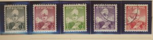 Greenland Stamps Scott #1 To 5, 3 MNH, 2 Used