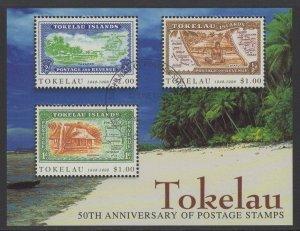 TOKELAU ISLANDS SGMS277 1997 ANNIV. OF POSTAGE STAMPS FINE USED