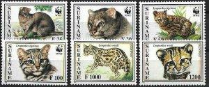 1995 Suriname WWF, Little Cats, complete set VF/MNH! CAT 24$