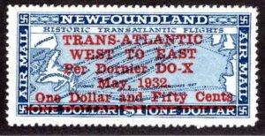 AM13 , NSSC, One Dollar and Fifty Cents, 1932 DORNIER DO - X, Newfoundland