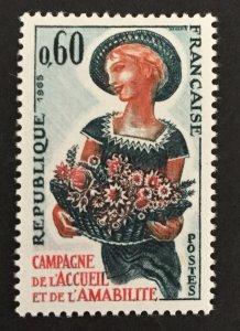 France 1965 #1120, Flowers, MNH.