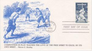 1983 BABE RUTH 20 Cent FDC,  K.M.C. VENTURE