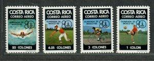 Costa Rica Sc#c782-c785 M/NH/VF, Cv. $24.50