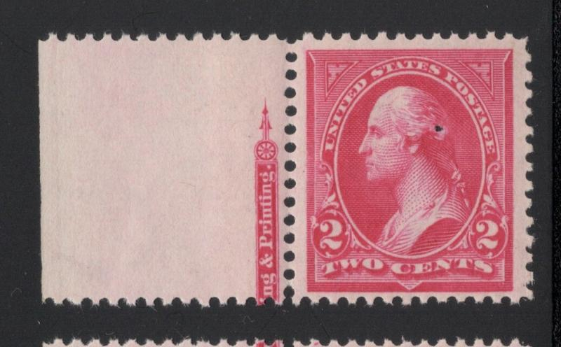 US#267 Pink - Type III - Margin Single - O.G. - N. H. - Flaw
