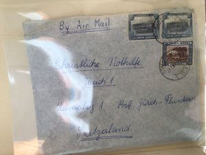 South West Africa 1946 to Switzerland stamps cover Ref R25624