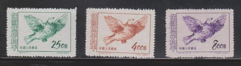 PEOPLES REPUBLIC OF CHINA Scott # 187-9 Mint