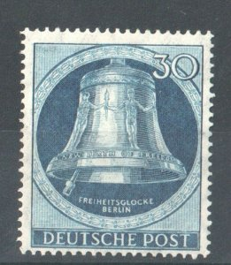 1951 WEST BERLIN GERMANY - S.G: B 78 - FREEDOM BELL  CLAPPER TO  LEFT - USED