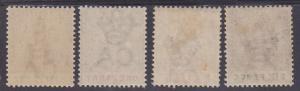 TRINIDAD 1896 BRITANNIA RANGE TO 6D WMK CROWN CA */**