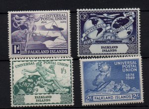 Falkland Islands 1949 UPU mint LHM set SG168-171 WS22193