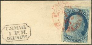 #7 TOP ROW COPY - RED CARRIER CANCEL VF+ BEAUTY!!! BN9650
