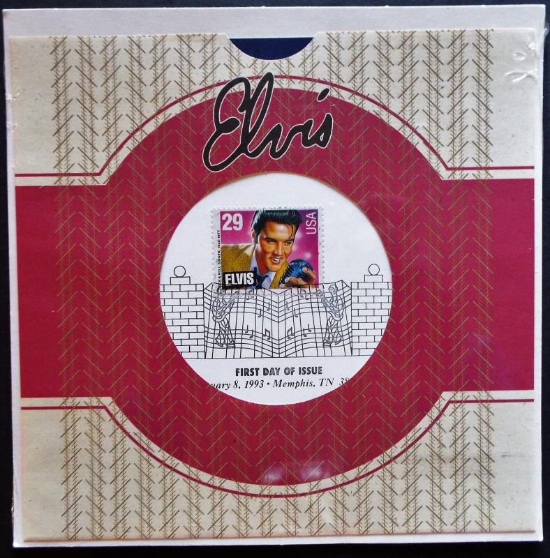 US #2724 FDC Elvis USPS Sealed with 45 rpm