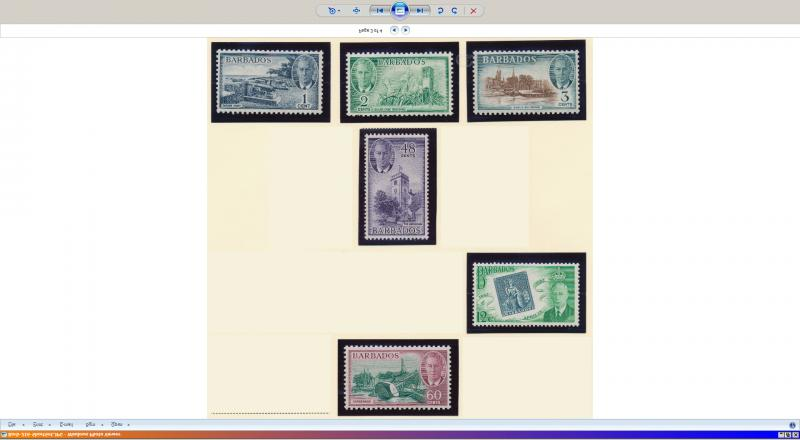 Barbados Stamps Partial Set Scott 216-8, 222, 224-5, Mint Hinged - Free U.S. ...