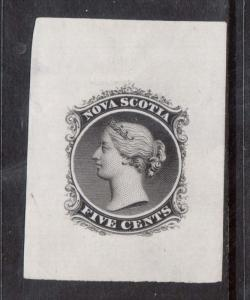 Nova Scotia #10DP XF Large Die Proof In Black