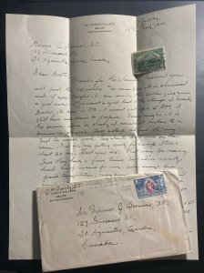1941 Belize  British Honduras St Johns College  Cover To St Hyacinth Canada