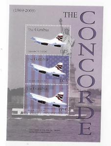 Gambia 2004 Concorde Airplane Sheet MNH C3