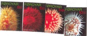 Faroe Islands - Oceanic Anemones - 4 Stamp Set - 6F-002
