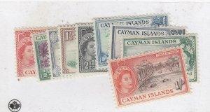 CAYMAN ISLANDS (MK6463) # 135-38,140-41,143-45 MINT/USED QEII DESIGNS  CV $28