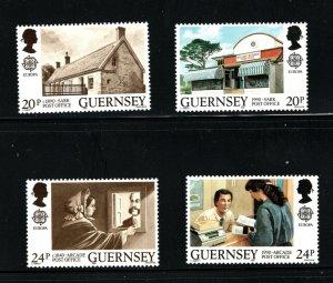 Guernsey  (1990)  - Scott # 422 - 425,