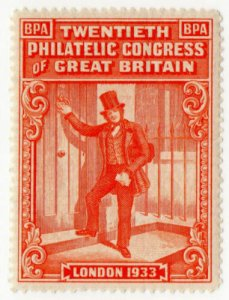(I.B) Cinderella : 20th Philatelic Congress (London 1933)