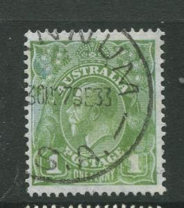 Australia  #114 Used 1931 Single 1p Stamp