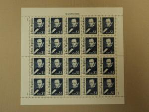 USPS Scott 2194 $1 1989 John Hopkins Full Sheet 20 Stamps...