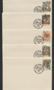 Australia PrePaid Envelope 1987  State Faunal Emblems  definitives
